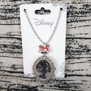 Minnie Mouse Locket Pendant Watch Necklace